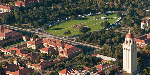 Aerial view of Stanford campus
