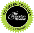 Logo of award from Princeton Review