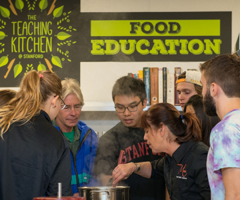 students learn about food