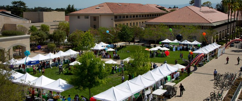 Earth day event at Stanford