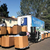 Goodwill truck with donations